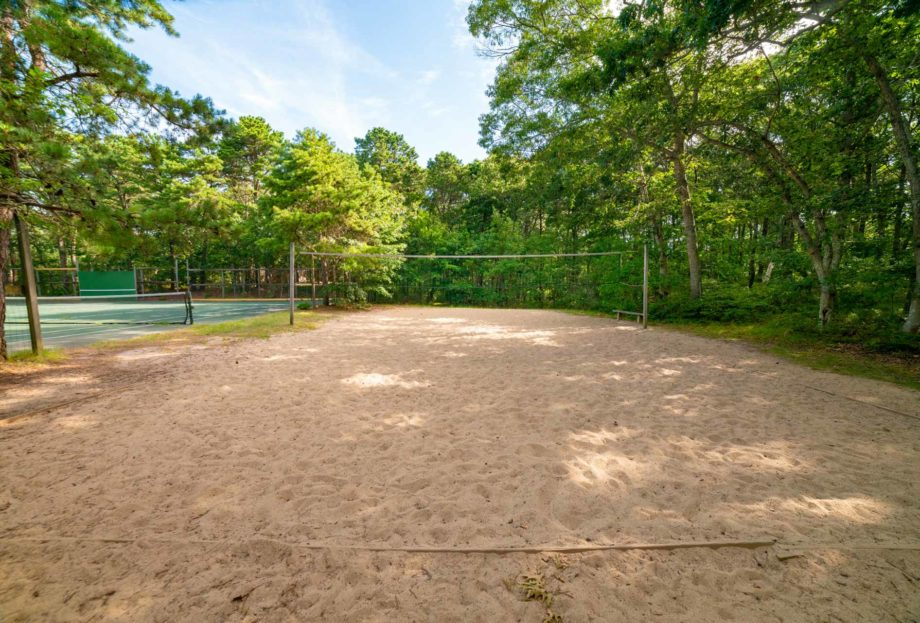 Beach volleyball court